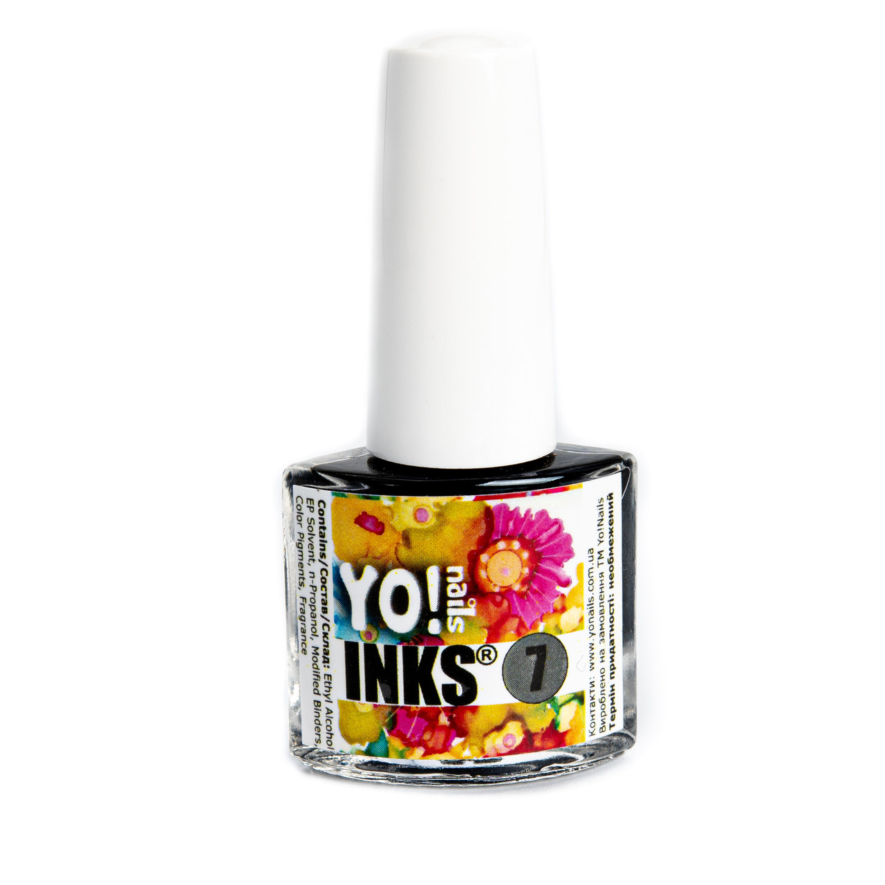 Акварельные чернила Yo!Nails INKS 7 (черный цвет)