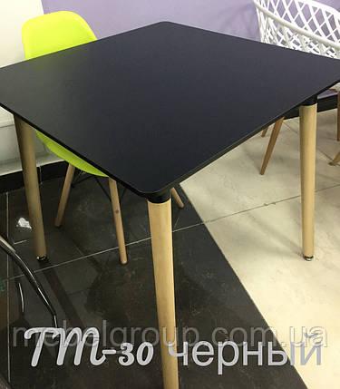 Стіл TM-30 чорний 80*80*76, фото 2