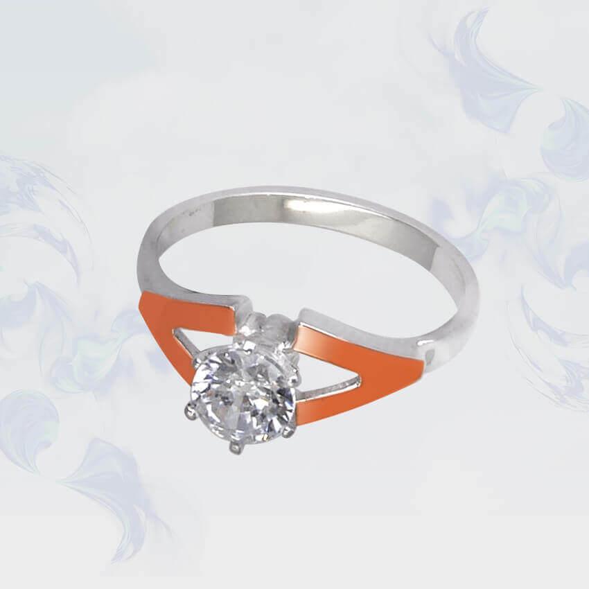 Кольцо из серебра с золотыми вставками