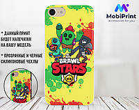 Силиконовый чехол для Apple Iphone 5_5s Brawl Stars (Бравл Старс) (4002-3413)