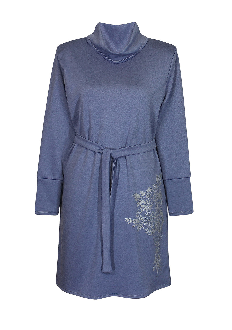 Платье с воротником стойка Маринка свободное