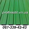 Профнастил зеленый металлопрофиль RAL 6005 для забора