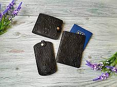 Подарочный набор из натуральной кожи черный лев (3 предмета), фото 3
