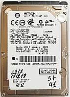 """Жесткий диск для ноутбука Hitachi Travelstar 500GB 2.5"""" 16MB 7200rpm 3Gb/s (HTS725050A9A362) SATAII Б/У, фото 1"""
