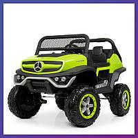 Детский электромобиль Mercedes benz c пультом Bambi M 4133 EBLR-5 зеленый   Дитячий електромобіль Бембі