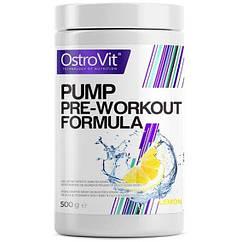 Предтреник OstroVit PUMP Pre-Workout Formula (500 г) островит памп lemon