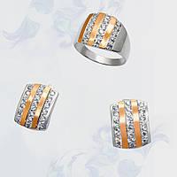 Гарнитур из серебра с золотыми вставками, фото 1