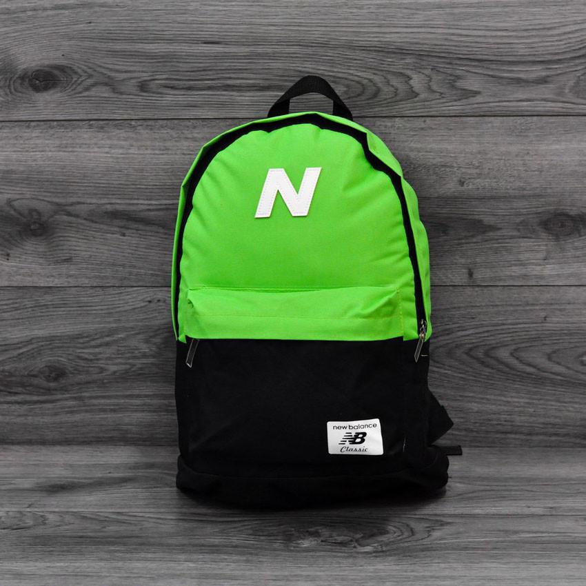 Городской спортивный рюкзак. Яркий, стильный. Нью бланс, New Balance. Салатовый с черным