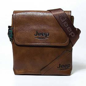 Мужская сумка через плечо Jeep. Коричневая. 21см х 19см / Кожа PU. 556 brown