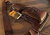 Сумка-рюкзак на одне плече, кобура, слінг Jeep 1941. Коричнева / J1941 brown, фото 7