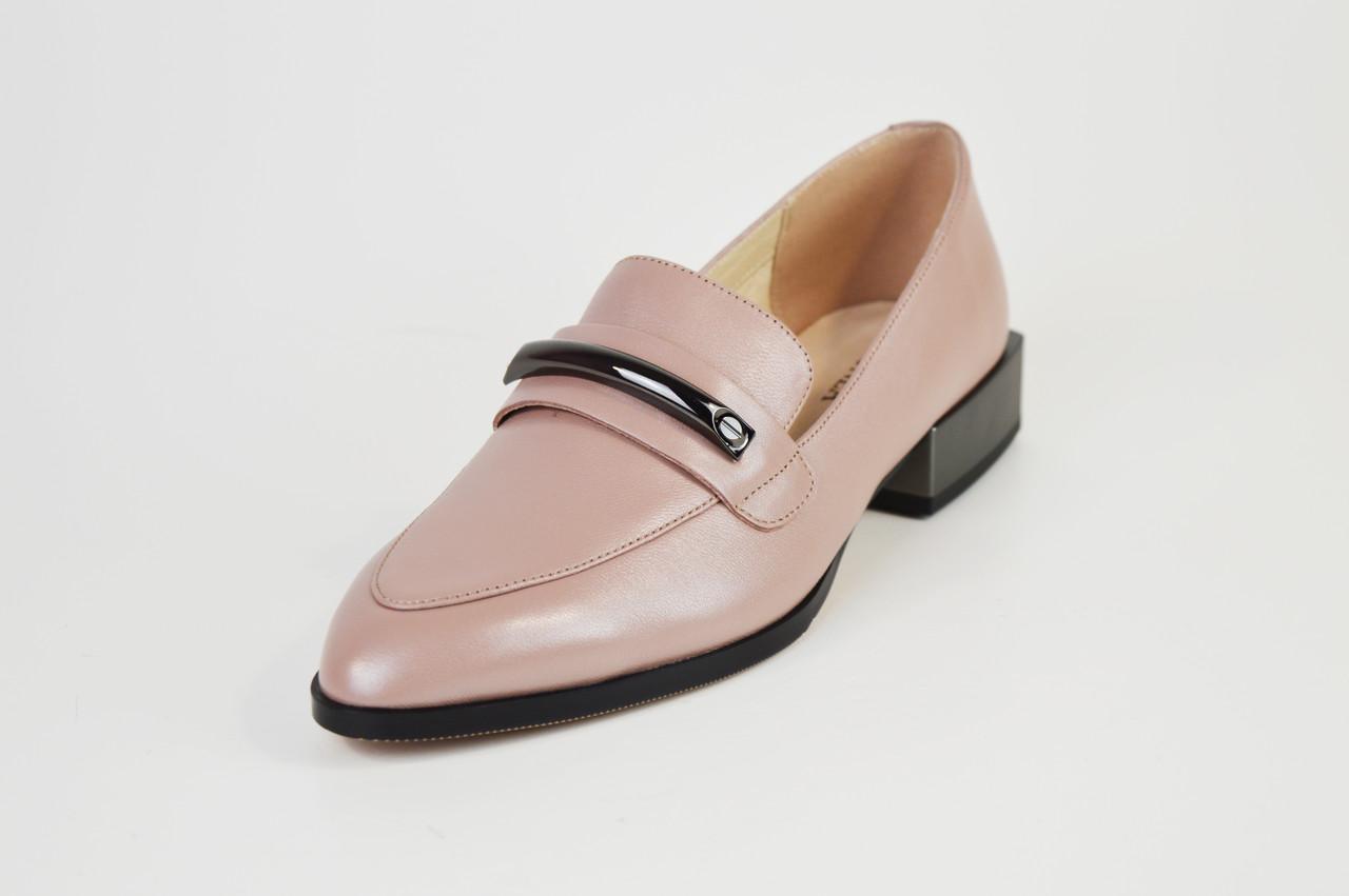 Туфли кожаные визон 683