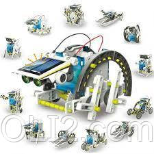 Конструктор-робот на солнечной батарее 14в1. Solar Robot