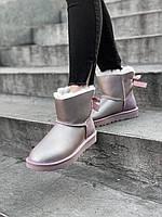Женские угги UGG Bailey Bow Boot Grey (оригинал), фото 1