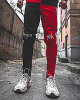 Теплые спортивные штаны Пушка Огонь Joker черно-красные