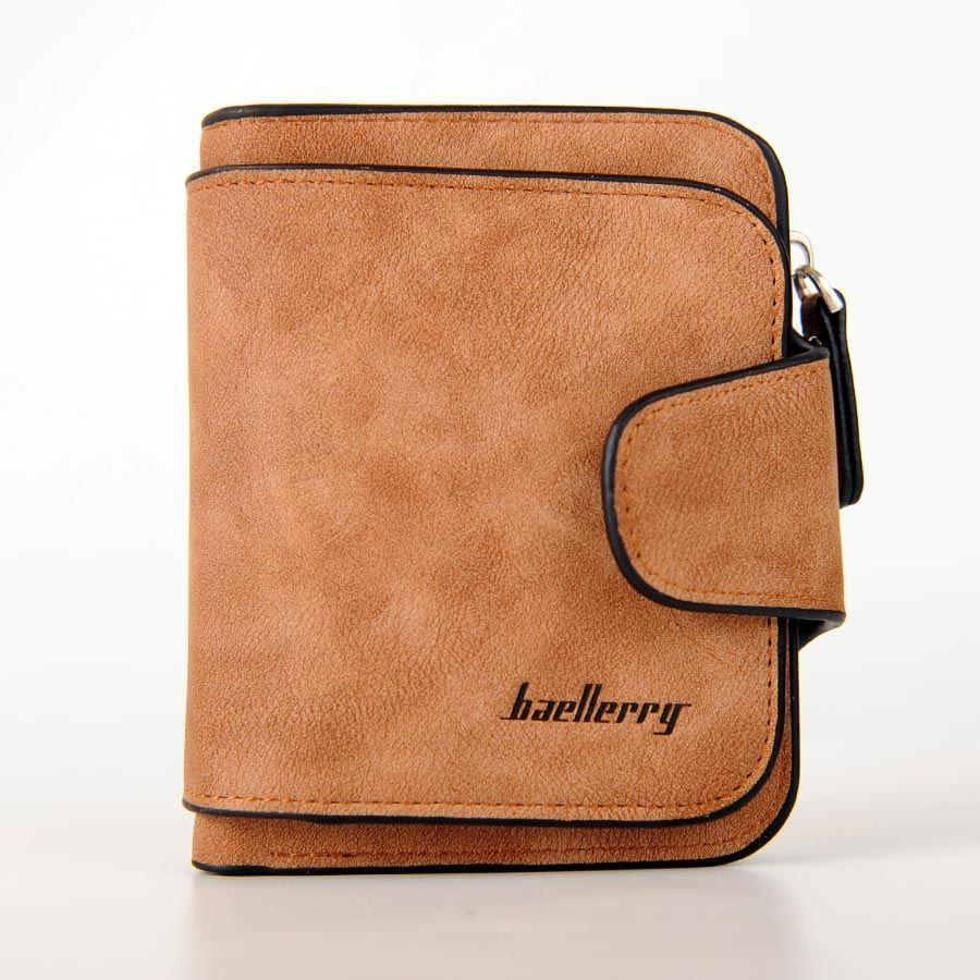Жіночий гаманець, клатч Baellerry Forever Mini, балери. Коричневий. Замша PU