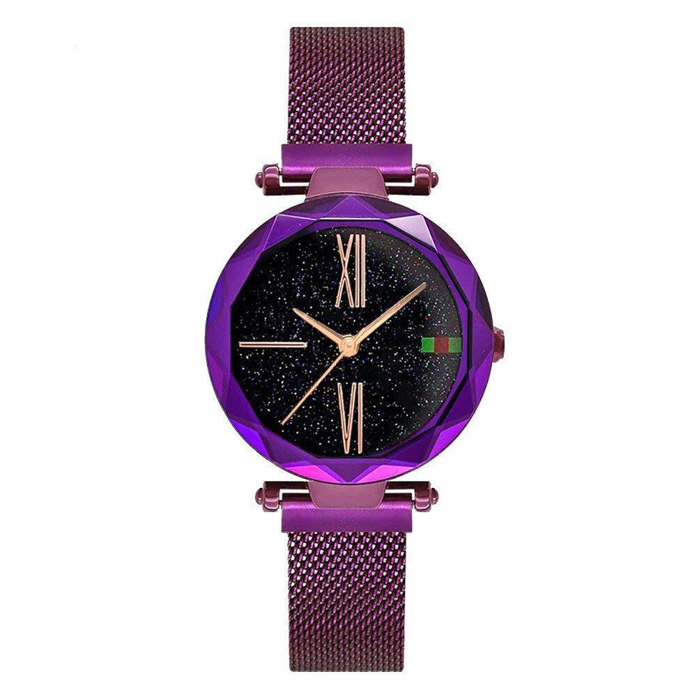 Стильні жіночі годинники Starry Sky Watch. Фіолетові. Скай воч.