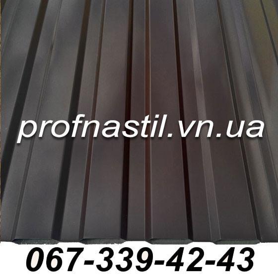 Металлопрофиль коричневый ПС-12 RAL 8017 Винница