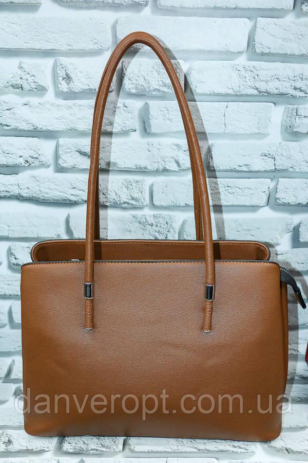 Сумка женская классическая модная кожзам размер 32х25х12 купить оптом со склада 7км Одесса