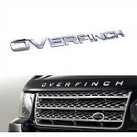 Эмблема надпись капота Range Rover OVERFINCH хром