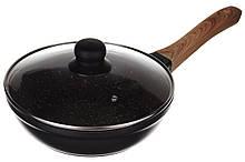 Сковорода с гранитным покрытием и крышкой A-PLUS 24 см (1722) Сковородка А-плюс