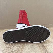 ЧЕРВОНІ високі Кеди конверси в стилі кеди Converse all star сітка літні, фото 3