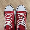 ЧЕРВОНІ високі Кеди конверси в стилі кеди Converse all star сітка літні, фото 2