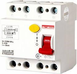 Выключатель дифференциального тока 4р, 40 А, 100 мА, E.Next, фото 2