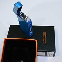 Электроимпульсная зажигалка двойная молния в подарочной упаковке USB, фото 1
