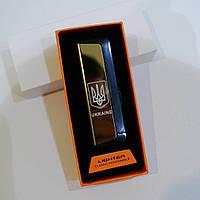 Электроимпульсная зажигалка двойная дуга USB в подарочной упаковке, фото 1