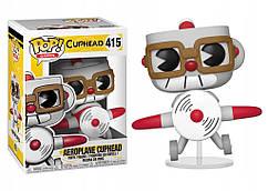 Фигурка Funko Pop Фанко Поп Чашкоголовый с самолёте Aeroplane Cuphead 10 см Game C AC 415