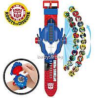Проекционные детские часы Трансформер Оптимус Прайм - 24 вида изображения героев .Projector Watch.