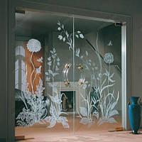 Нанесение матированного рисунка (надписи) на стекло, фото 1