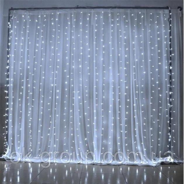 Новогодняя гирлянда штора Водопад белый 2х2м ( гірлянда )