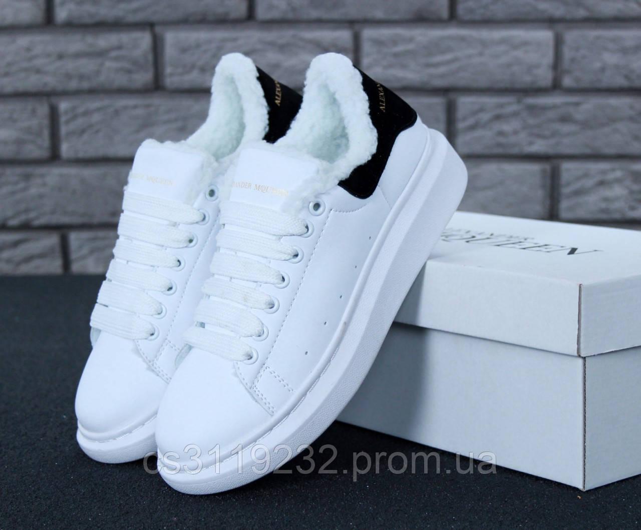 Жіночі кросівки (хутро) (білі)