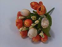 Букет розочек оранжево-кремовых 21 см, фото 1