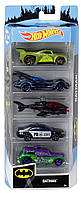 Набір машинок Бетмен Hot Wheels Хот Вілс Batman 5-Pack B07P8WRLKY Mattel Оригінал GGD32