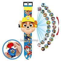 Проекционные детские часы Щенячий Патруль Крепыш - 24 вида изображения героев .Projector Watch.