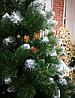 Елка Искусственная Королева лидия 2.2 м. Ель с белыми кончиками Штучна Ялинка. Елка пвх зеленая, фото 5