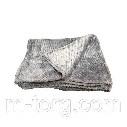 """""""Серый""""Плед евро размер 200/230, микрофибра, фото 2"""