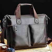 Мужская кожаная сумка для ноутбука. Модель 425