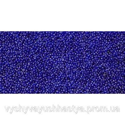 Чешский бисер Preciosa Ornela №66300 (керамический блестящий, темно-синий) 10/0