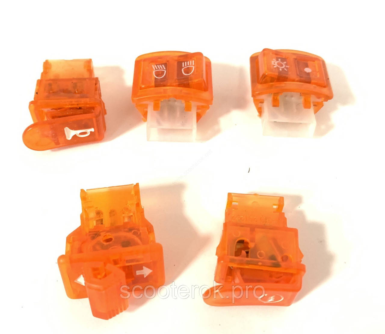 Кнопки Honda DIO AF27 к-кт 5 шт. оранжевые.