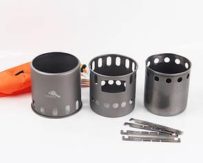 Титановая перегородка для щепочницы TOAKS STV-11 Титановые переходники (BAR-02)