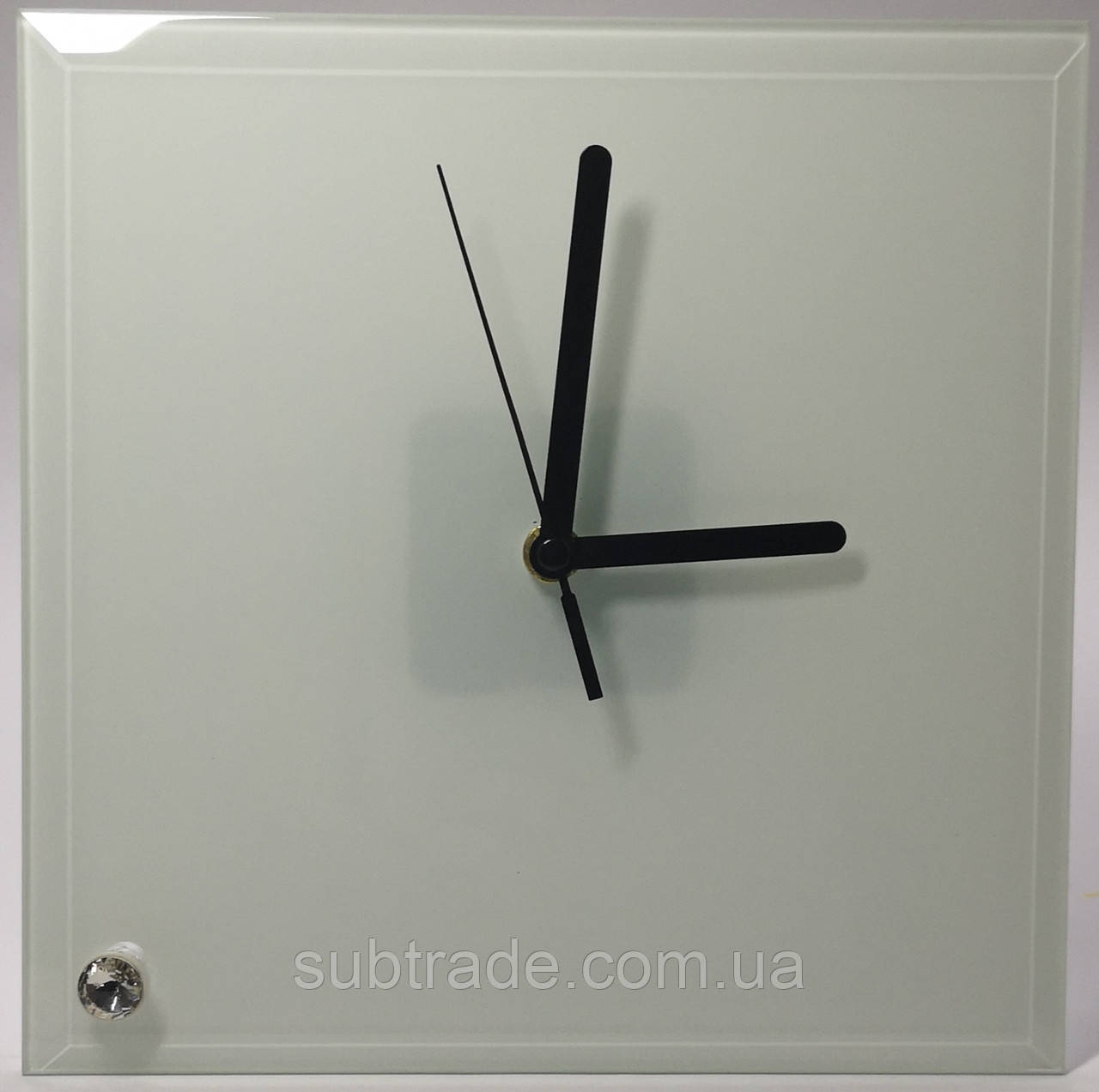 Часы сублимационные стеклянные 20*20 см