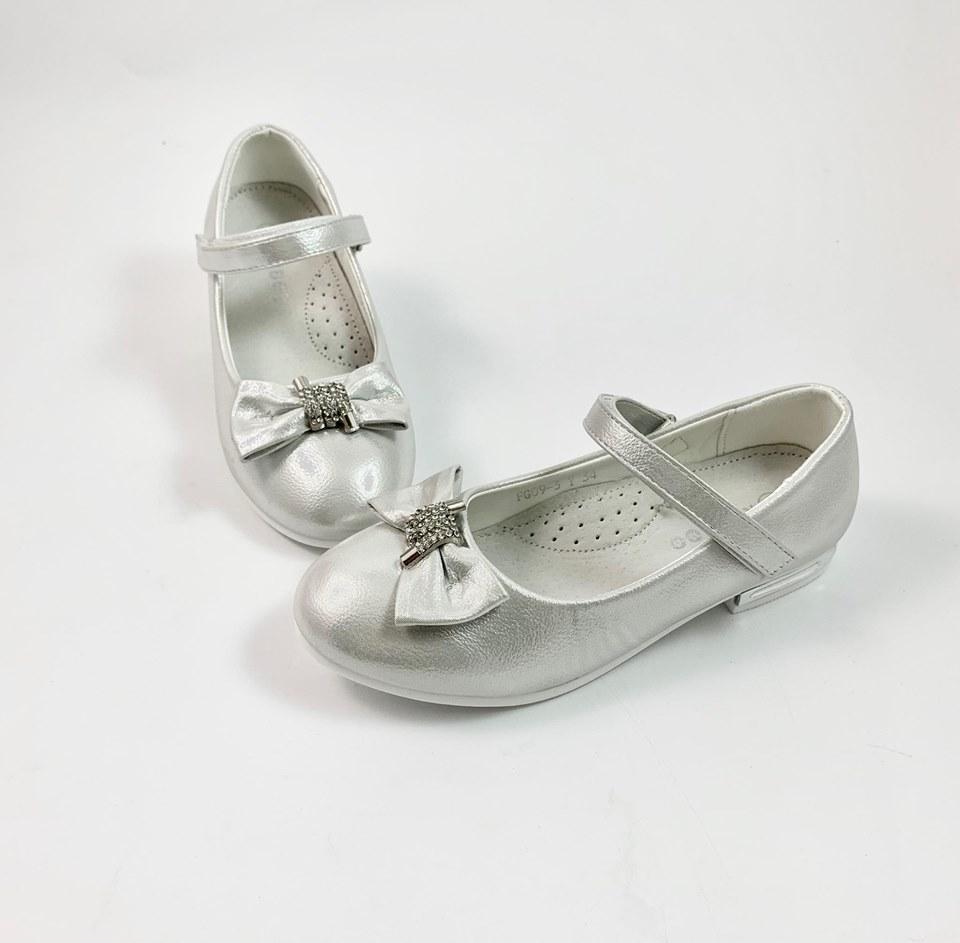 Серебряные праздничные туфли Бант (р.32,34,36,37)