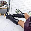"""Ботфорты женские зимние черного цвета из эко кожи """"9186"""". Сапоги женские зимние. Сапоги ботфорты зима, фото 6"""