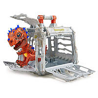 Интерактивный динозавр Фингерлингс WowWee Untamed Skeleton Jailbreak Playset w/ Radioactive skeleton Din