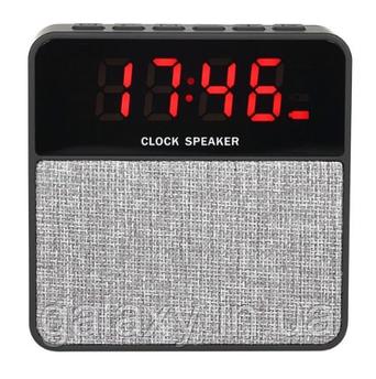 Bluetooth міні колонка з годинником радіо SD USB