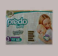 Подгузники Predo Baby Midi 3, 4-9 кг, 68 шт (J-103)