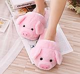 Розовые тапочки свинки, фото 2